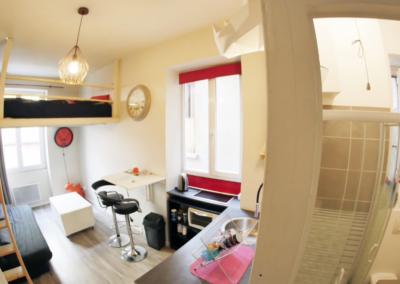 Rénovation complète d'un studio – Place Sathonay