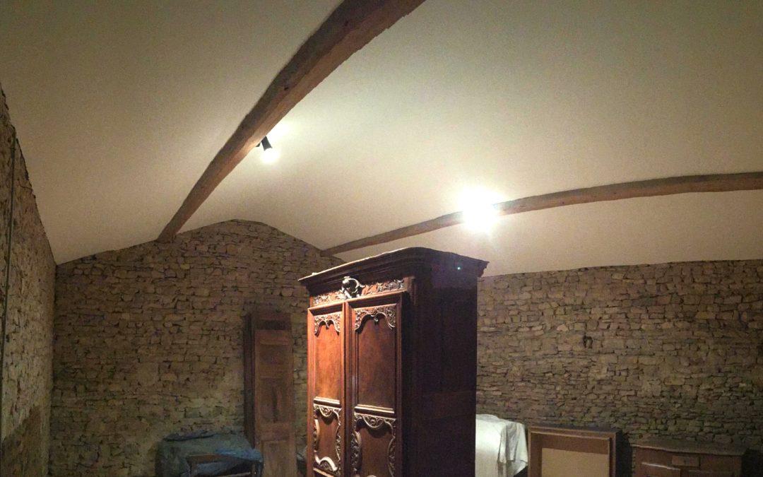 Pose d'un faux plafond rampant – Mont d'or