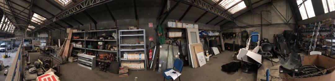 atelier transformé en bureaux