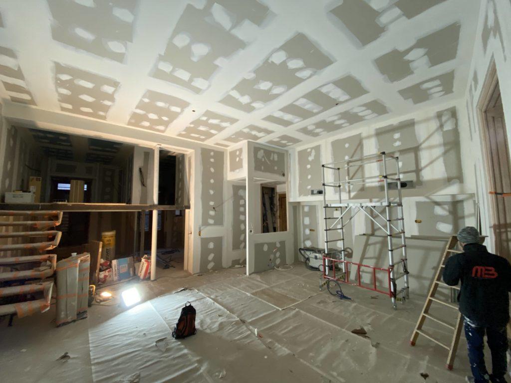 rénovation plafonds et murs
